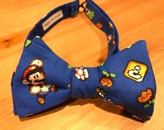 Super Mario Bow Tie, Video Game, Nintendo, Yoshi, Luigi, Nintendo, Classic NES, Gamer, Wedding, Groom, Gift, Holiday, Dapper On Arrival