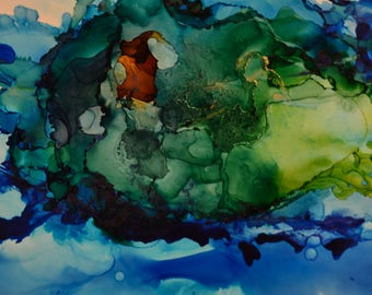 Deep Waters: Abstract Alcohol Ink Art