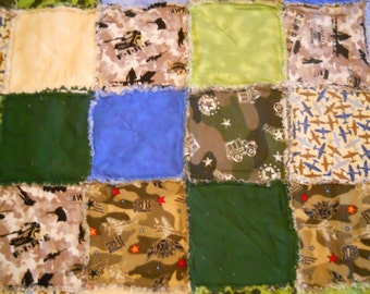 Military Themed Rag Quilt
