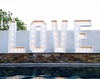 """48"""" LOVE marquee letters, giant 4feet tall LOVE letter, light up letters"""