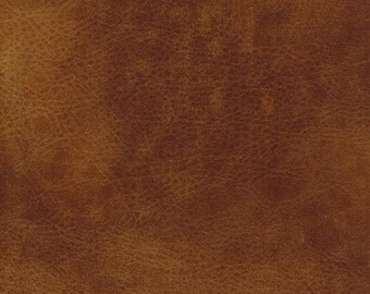 Faux Leather Fabric Upholstery Vinyl Embossed Della Buckskin by the Yard