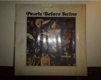 RARE Vintage 1969 Psychedelic Rock LP Record Pearls Before Swine One Nation Underground w/Original Poster 9122