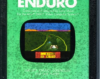 Atari 2600 Enduro Game Cartridge Activision