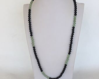 Vintage Jade and Agate Necklace