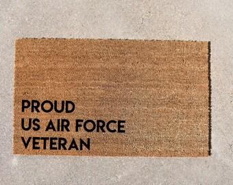 Air Force Veteran Doormat, Air Force Veteran, Cute Doormat, Veteran Sign, Veteran Gift, Military Decor, Air Force Decor, Welcome Mat