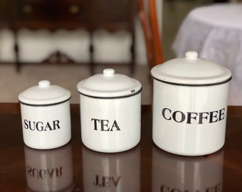 Tea, Coffee, Sugar Kitchen Canisters
