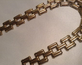 1980s Vintage Qualily Linked Necklace