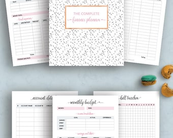 Happy Planner Budget Printable, Financial planner, Budget Planner Printable, Debt payoff, Expense Tracker, Dave Ramsey, MAMBI planner