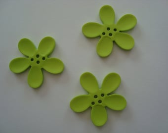Perle Fleur Orchid green 40mm
