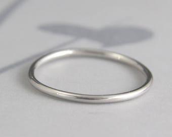 Platinum Band Spacer Ring 1.25mm Full Round Band Platinum Ring Platinum Wedding Band Platinum Wedding Ring Platinum Stacking Ring