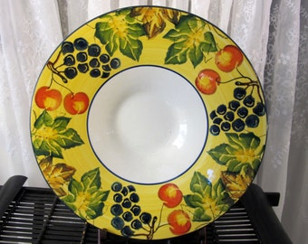 """Vintage 90's large ceramic serving bowl made in Italy 15 1/4"""""""