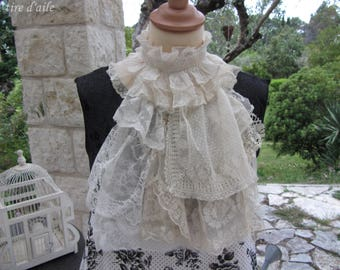 Ruffled Ascot antique lace, romantic, shabby wants, Victorian, vintage, Magnolia