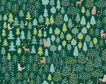 Little Red The Forest, Wee Gallery, Dear Stella Fabrics, 100% Cotton Fabric, Stella 977