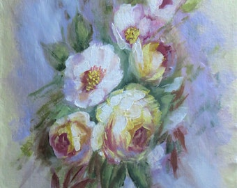 Floral Painting; Roses and Blossoms Painting; Fine Art Wall Art; Flowers