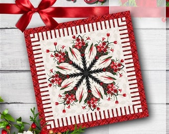Poinsettia Bouquet Quilt Kit for paper piecing pattern by Quiltworx / Judy Niemeyer
