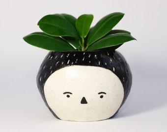 Handmade by Hesukinae Studio, Face Planter, Face Pot, Handmade Planter, Ceramic Pot
