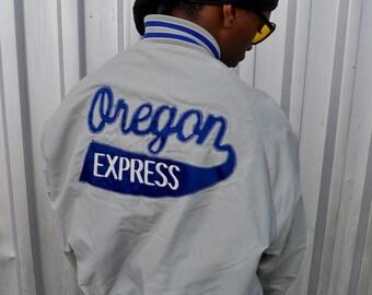 1970s Oregon Express Softball bomber jacket