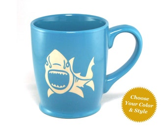 Shark Mug - Choose Your Nautical Cup Color