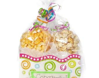 Congratulations gift, gift box, popcorn, popcorn boxes, gourmet popcorn, kettle corn, gift women, gift for men, caramel popcorn, kids gift