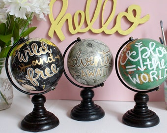 Mini Painted Globe