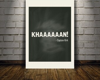 Star Trek KHAAAAAAN! downloadable digital art print