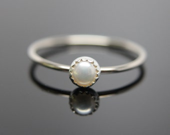 Choose your Gemstone. One 14k white gold gemstone stacking ring. Gemstone stacking band ring. White gold gemstone ring.