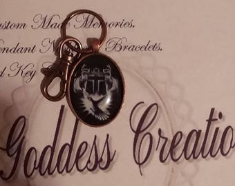 Religious Key Chain Bronze with Clasp