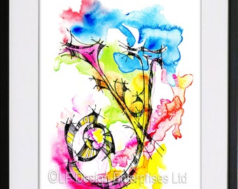 Personalised  Monogram, Y, Watercolor, A4, Customisable Any Letter on Cards, Typography, Name on Card, Wall Decor, Watercolor Letter Print