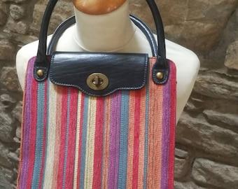 Edina Ronay 1960s multi coloured bag.