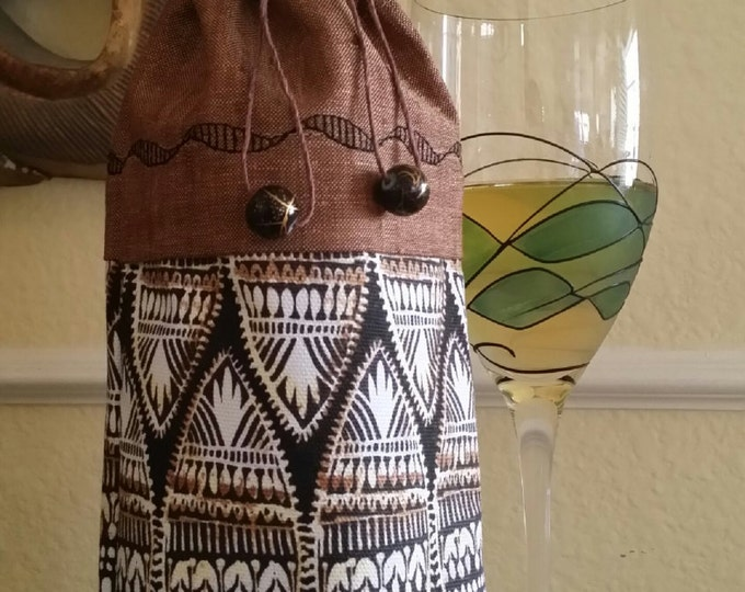 Wine Bag-Deluxe-Artsy Collection (African Art)