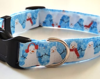 Dog Collar - Christmas Snowman