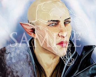 Dragon Age Solas Print