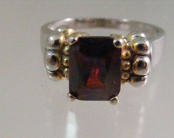 Vintage Synthetic Red Spinel  Ring in Sterling Silver .....  Lot 5339