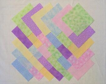 PASTEL PRINTS 5 inch Squares, 100% Cotton Prewashed, Quilt Block Fabric  (#47A)
