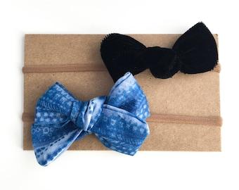 Shibori Print   Barrettes   Toddler Bows   Velvet Bow   Mini Newborn Bow   Neutral Baby Bows   Neutral Baby Headbands   Newborn Photo Prop