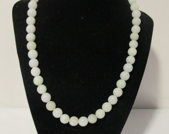 ON SALE White Jade Necklace  (Grade A) The Last One .