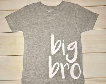 big bro tshirt or bodysuit / big brother shirt / big brother announcement / big bro toddler tee