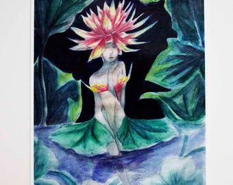 Waterlily A6 Print