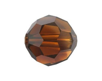 Swaovski 5000 round bead in topaz blend 6 mm - Quantity of 16 beads