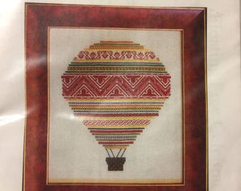 Floating Free Periwinkle Promises Sampler Celebration  Counted Cross Stitch  Kit Embroidery  Kit