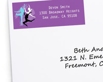 Must Dance to the Beat - Dance - Return Address Labels - Personalized Dance Party or Birthday Party Supplies - 30 Dance Party Labels