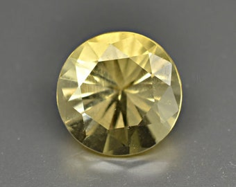 Scapolite 1.74cts Round Cut 8.00 x 8.00mm Madagascar H5-6 Y10159 Yellow Loose Faceted Gemstone Jewelry Making Semi Precious