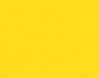 Citrus Kona Cotton, Yellow Fabric, Robert Kaufman Fabrics, Half Yard