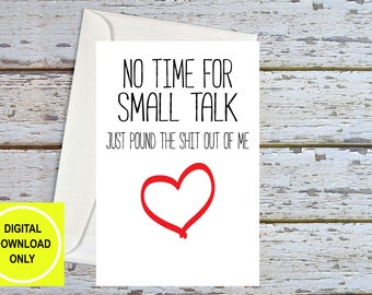 Sex Card, Naughty Cards, Funny Husband Card, Sexy Card For Boyfriend, Anniversary Card Him, Dirty Cards, Naughty Birthday, Printable