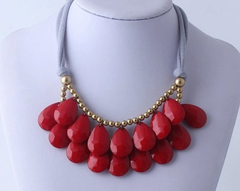 Beautiful Red Statement Necklace
