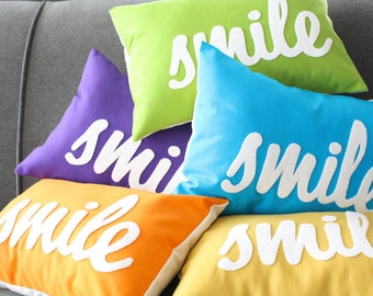 Custom Smile Pillow in Your Color Choice