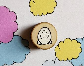 CHEP Miniatur Malerei Woodslice - Magnet oder Abzeichen - Sie entscheiden!