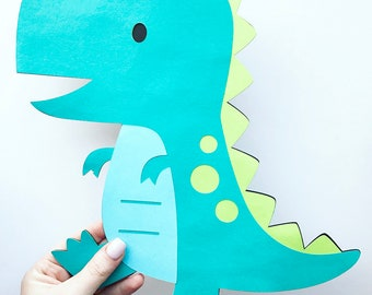 Extra Large Dinosaur Cutout - 11.5 inches - Diecut - Dino Cutout - Dinosaur Decorations - Large Dinosaur Centerpiece