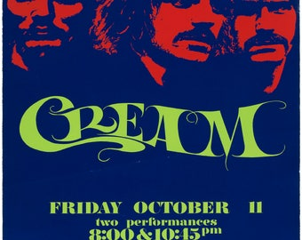 CREAM Concert Poster - Giclee Reproduction Full Colour Wall Art Print
