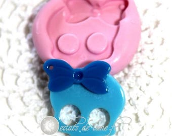 Silicone skull mold glamour 25mm